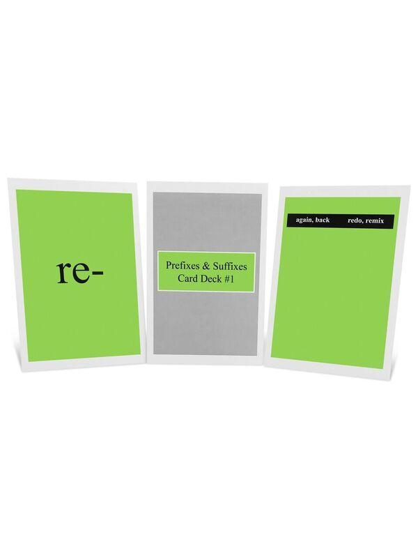 Prefixes & Suffixes Card Deck
