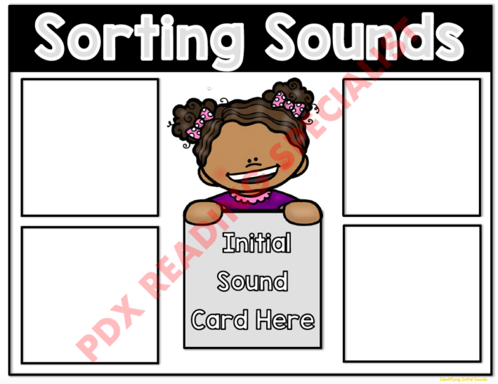 Sorting Sounds Game Board #2 - Digital Version (Instant Download!)