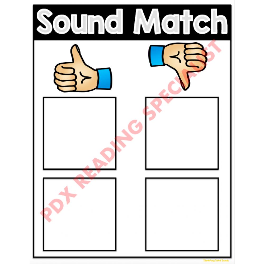 Sound Match Game Board - Digital Version (Instant Download!)